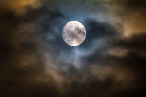 Moon illustrates thoughts create struggle or joy