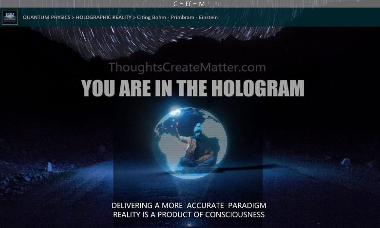 you materialize everything because as this image shows, you are in a hologram you are manifesting