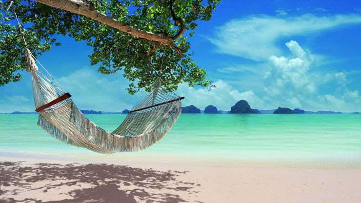 beach hammock represents the power of natural positive beliefs, thoughts and emotions