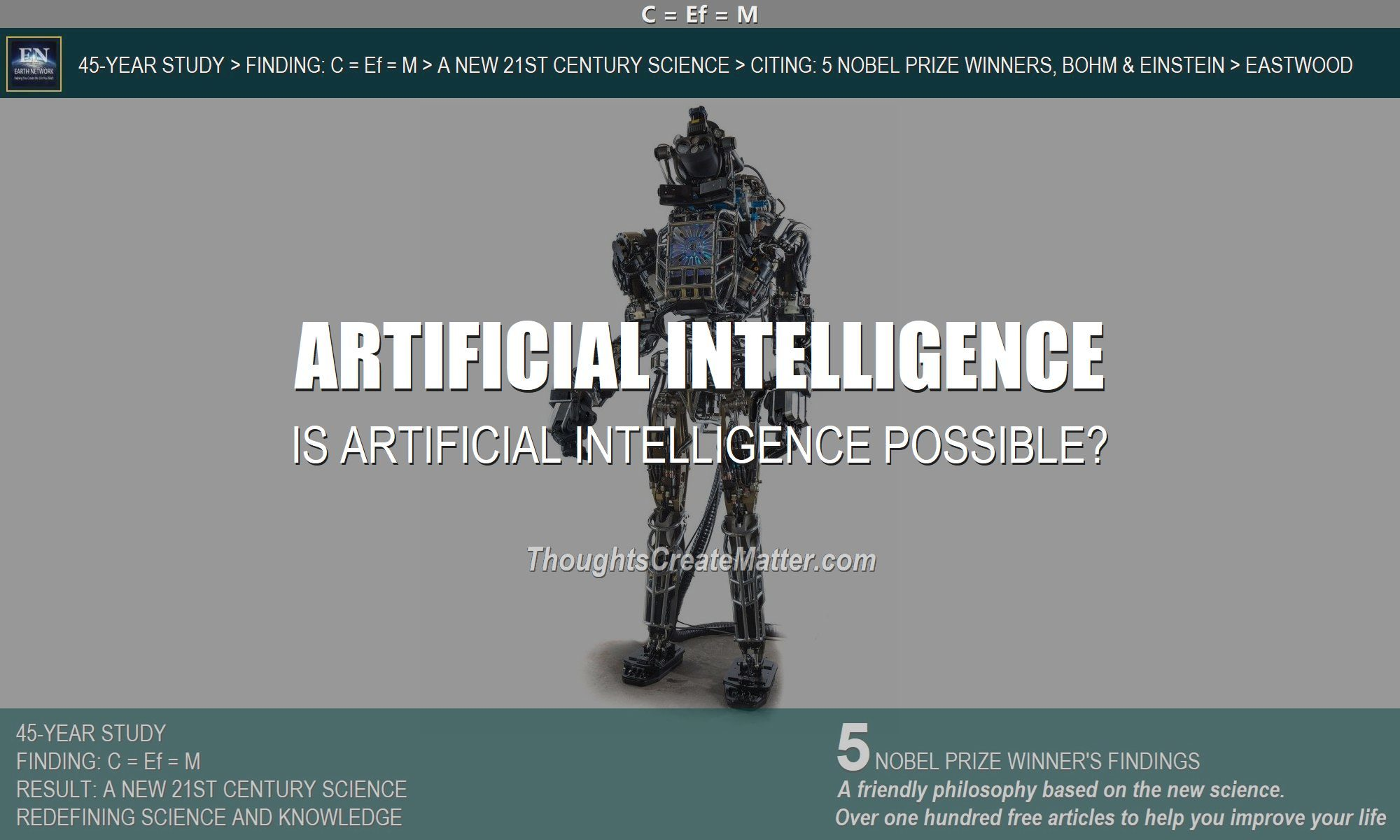 Robot depicts question is artificial intelligence possible?