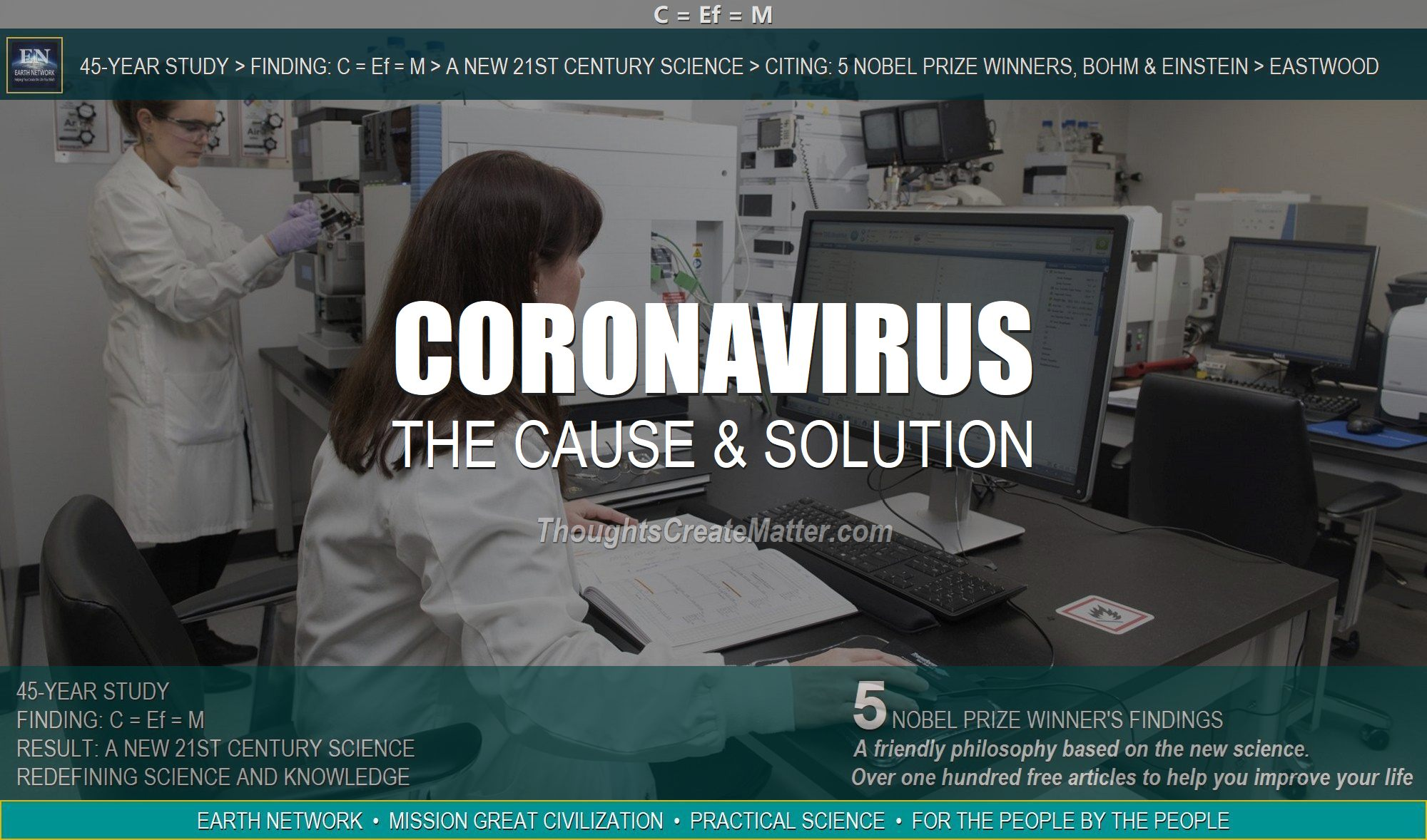 Woman searching for cure is in wrong paradigm. We have the coronavirus solution and cure.