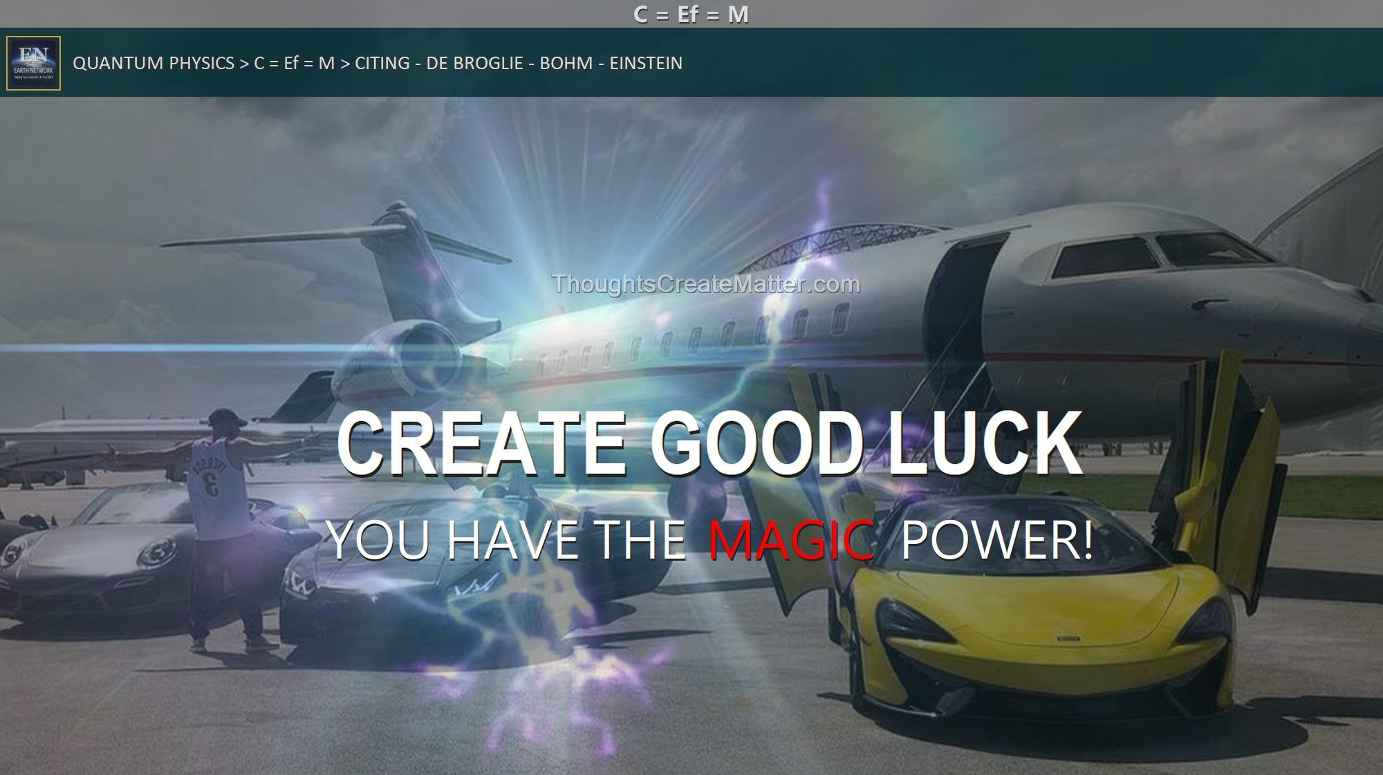 Man-with-jet-cars-depicts-how-to-use-thoughts-to-create-good-luck-your-mind-can-cause-good-things-to-happen