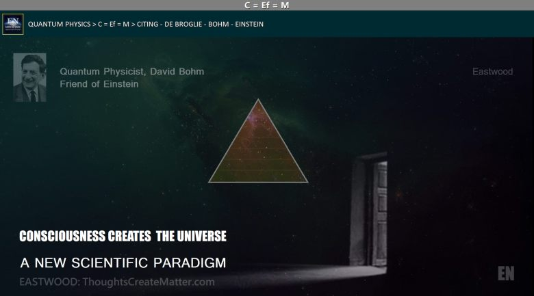 pyramid in galaxy depicts new science paradigm thoughts influence create matter
