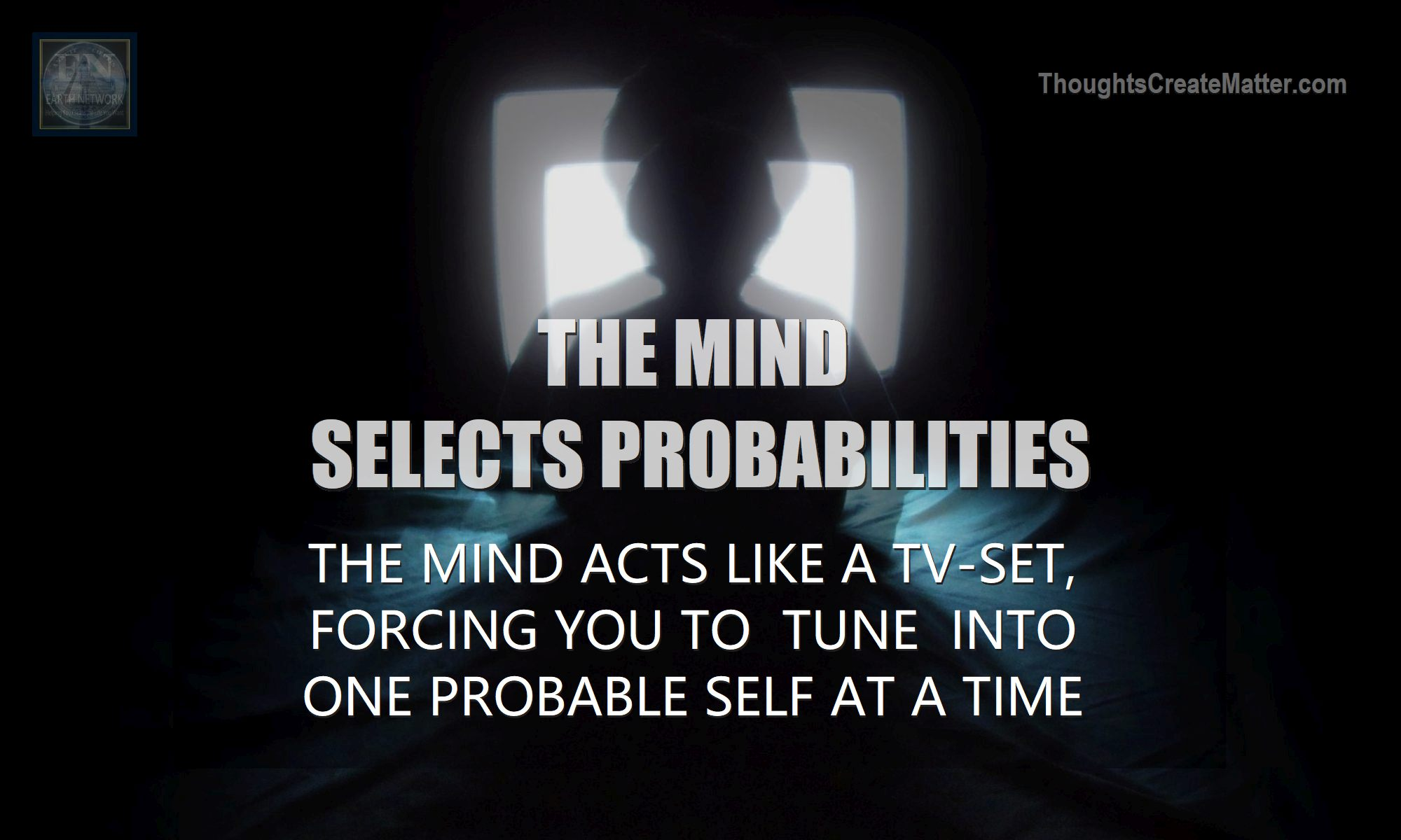 Child watching tv depicts how the mind selects probabilities and probable selves