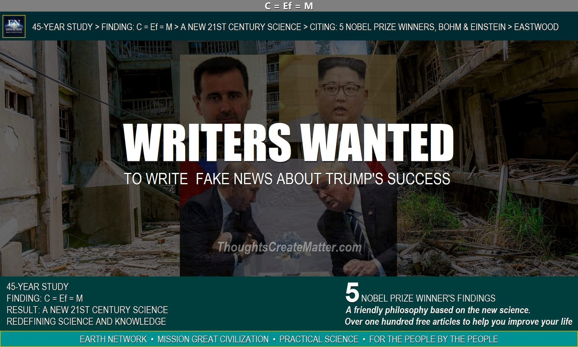 Destruction in Syria depicts Trumps failure and foolish attempt to hire writers for false news lies
