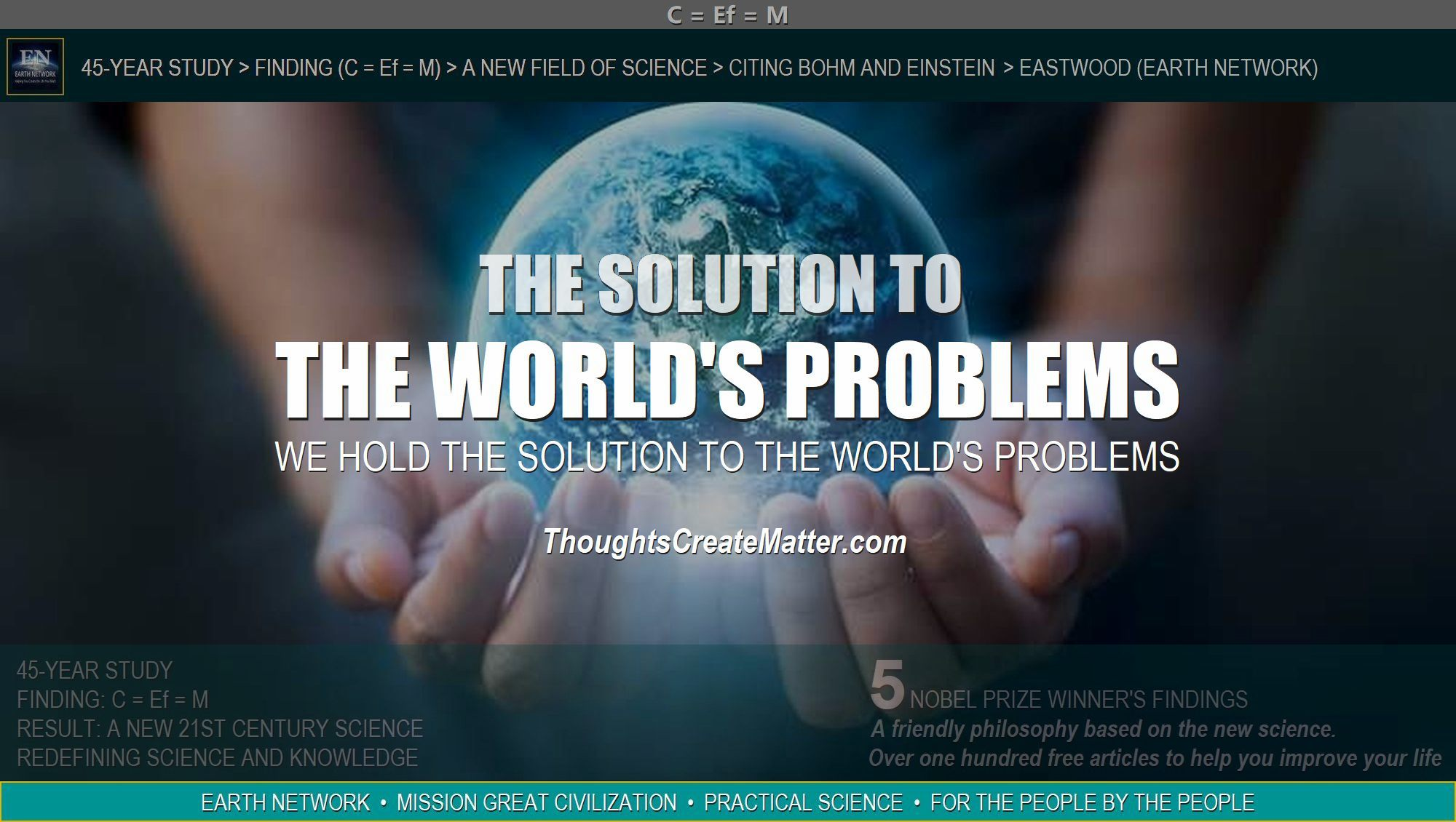Earth in hands depicts that we have the solution to all the world's problems