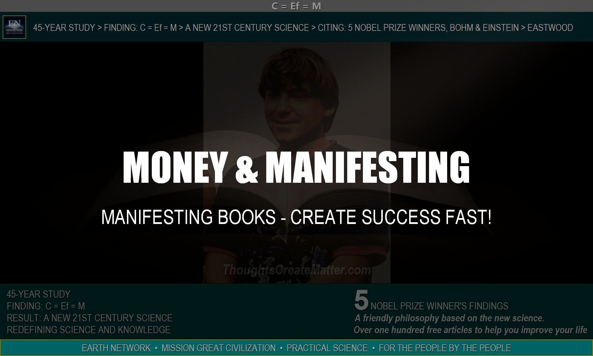 William Eastwood's money manifesting books show you how to create success fast with proven examples.