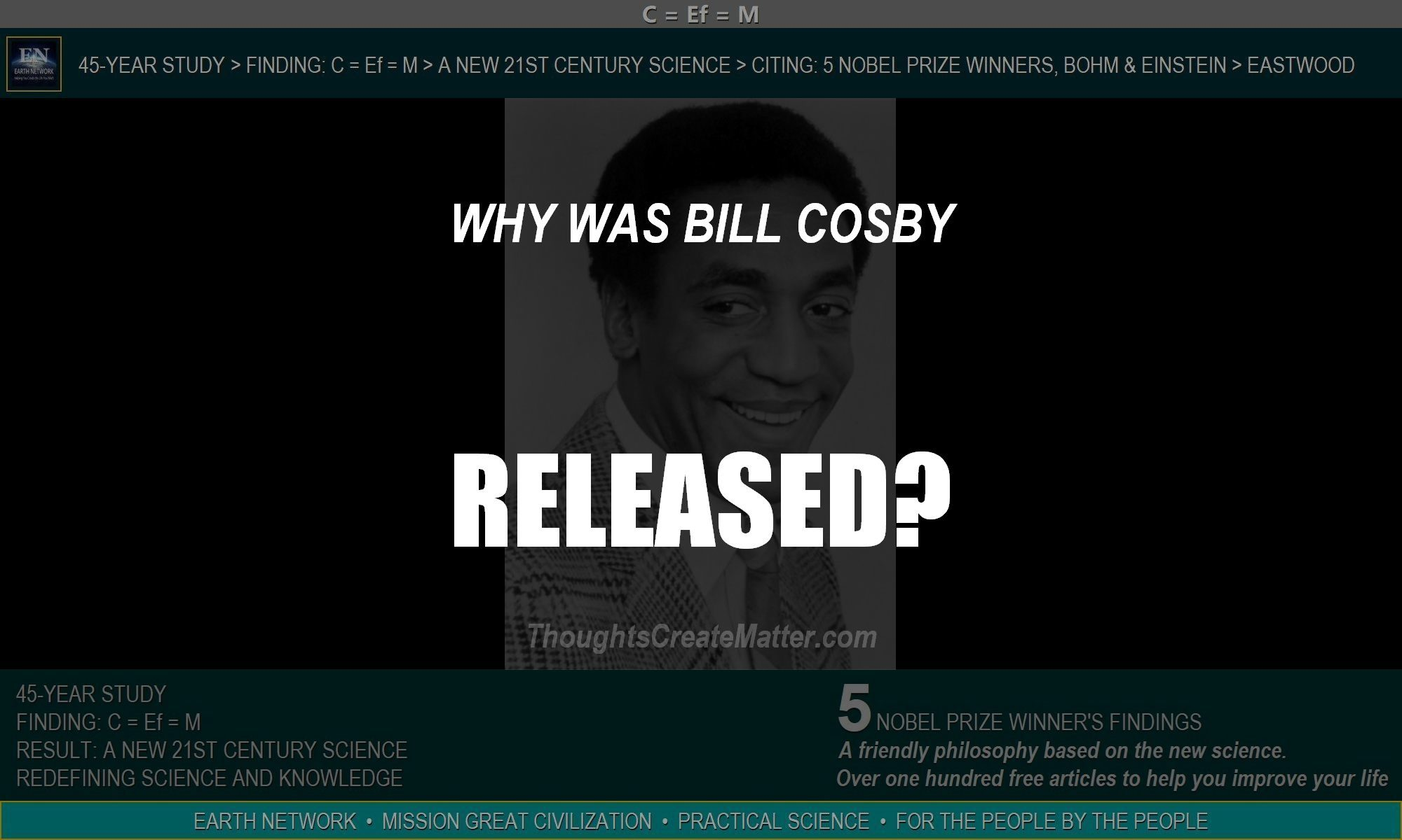 Bill Cosby smiling. Why was he released from prison? Criminal justice system needs reform.