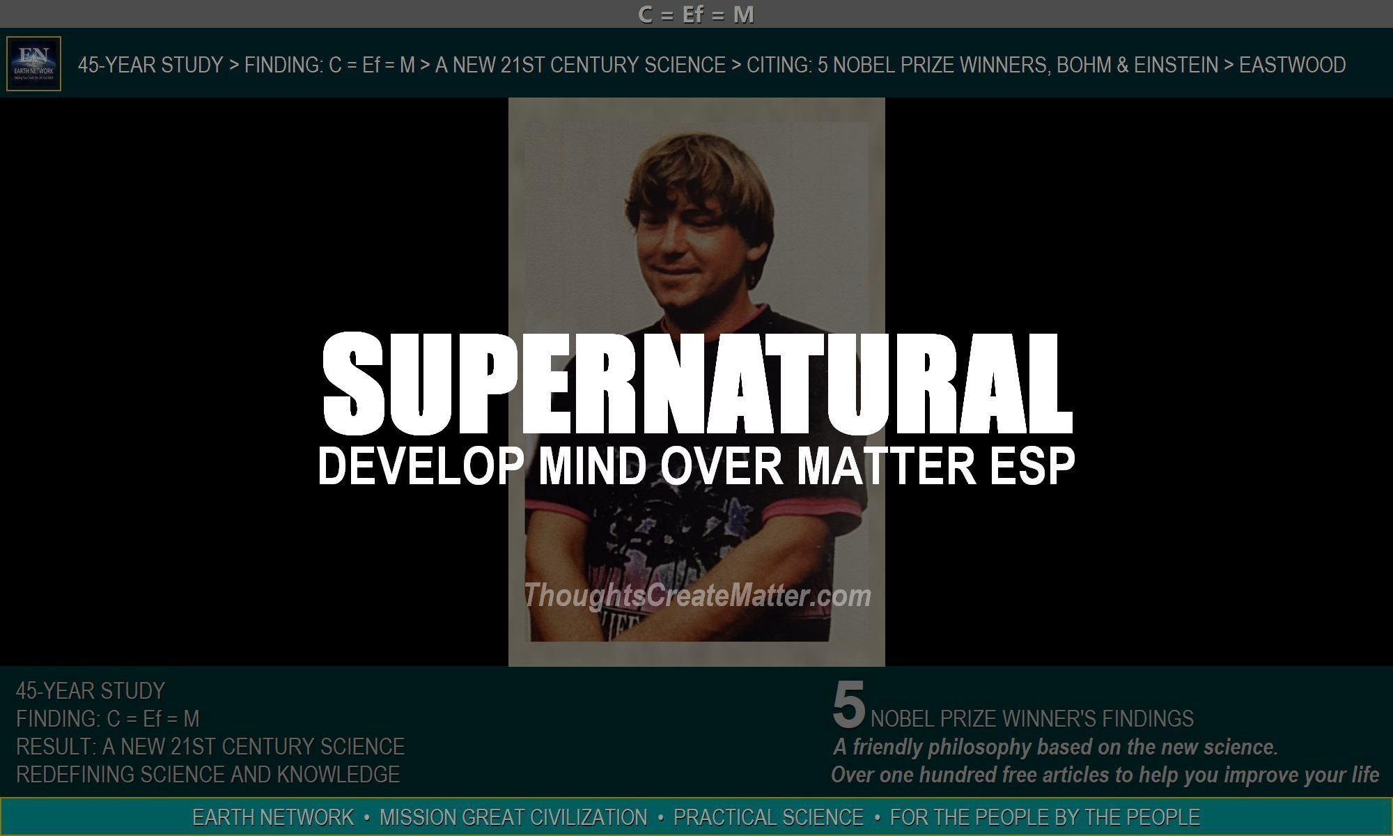 Eastwood signifies true mind over matter ESP. Learn to develop supernatural power.