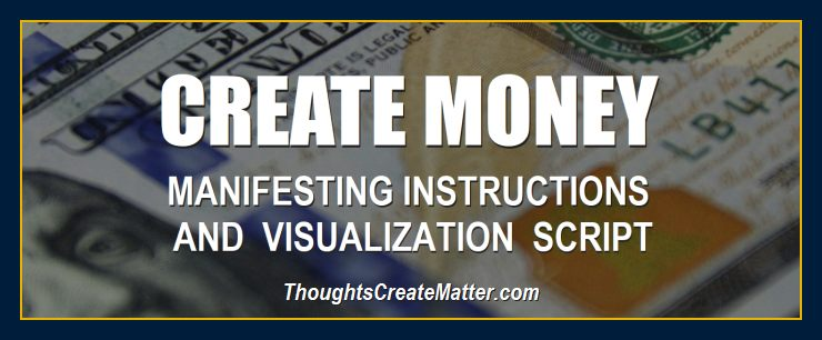 100 dollar bills depicts how you can create money with your thoughts using this visualization script.
