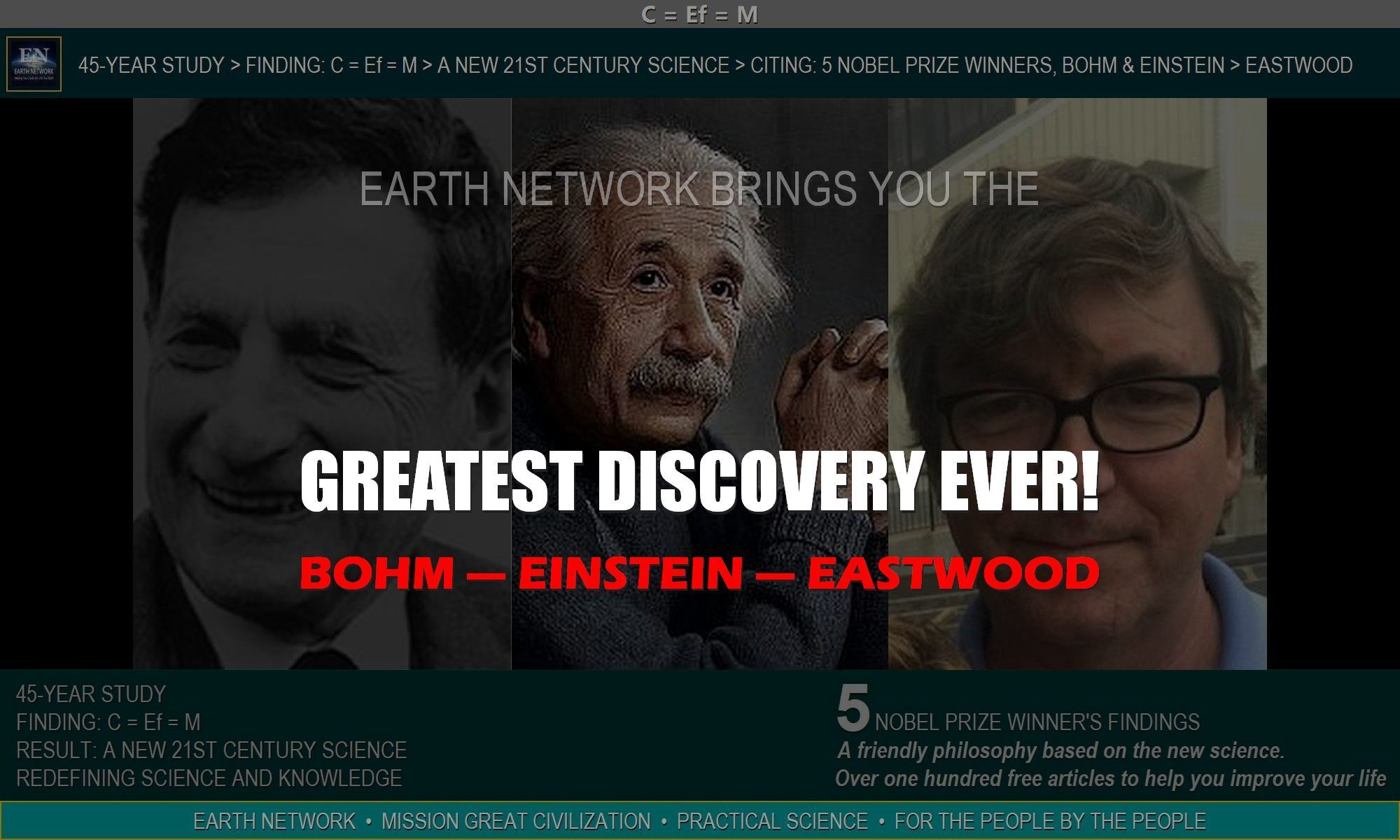 THE GREATEST NEWS STORY & SCIENTIFIC DISCOVERY EVER! EINSTEIN'S COLLEAGUE'S NEWS OF THE DAY, WEEK, YEAR & CENTURY! JOURNEY OUT OF THE ILLUSION